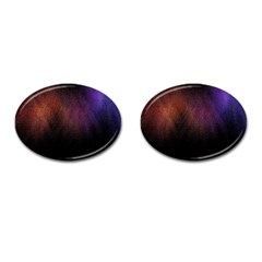 Point Light Luster Surface Cufflinks (oval)