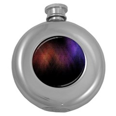 Point Light Luster Surface Round Hip Flask (5 Oz)