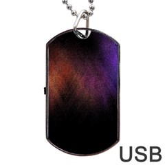 Point Light Luster Surface Dog Tag Usb Flash (one Side)