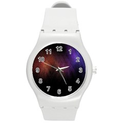 Point Light Luster Surface Round Plastic Sport Watch (m)