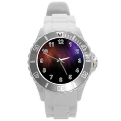 Point Light Luster Surface Round Plastic Sport Watch (L)