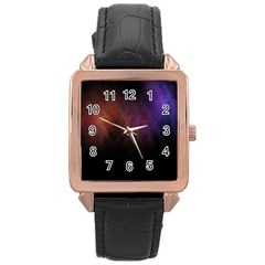 Point Light Luster Surface Rose Gold Leather Watch