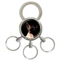 Sphynx cat 3-Ring Key Chains
