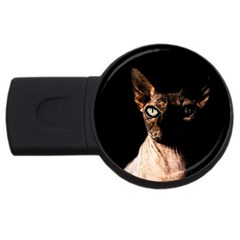 Sphynx cat USB Flash Drive Round (1 GB)