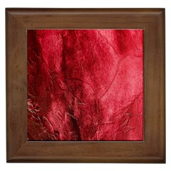 Red Background Texture Framed Tiles