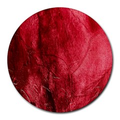 Red Background Texture Round Mousepads