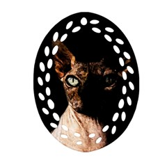 Sphynx cat Ornament (Oval Filigree)