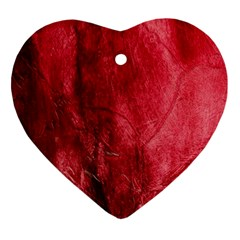 Red Background Texture Ornament (heart)