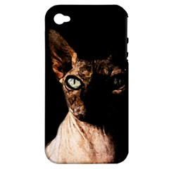 Sphynx cat Apple iPhone 4/4S Hardshell Case (PC+Silicone)