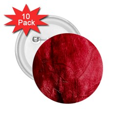 Red Background Texture 2.25  Buttons (10 pack)