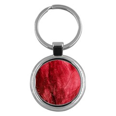 Red Background Texture Key Chains (Round)