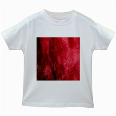 Red Background Texture Kids White T Shirts