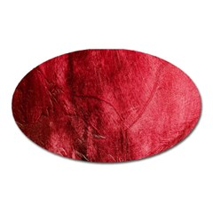 Red Background Texture Oval Magnet