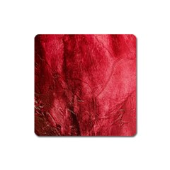 Red Background Texture Square Magnet