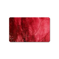 Red Background Texture Magnet (name Card)