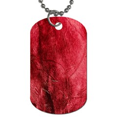 Red Background Texture Dog Tag (One Side)