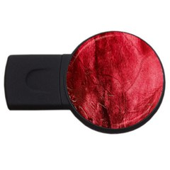 Red Background Texture USB Flash Drive Round (2 GB)