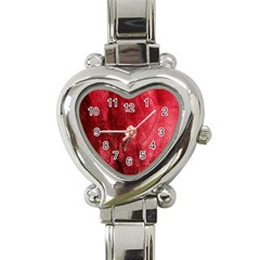 Red Background Texture Heart Italian Charm Watch