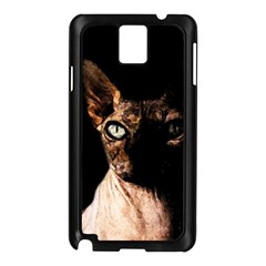 Sphynx cat Samsung Galaxy Note 3 N9005 Case (Black)