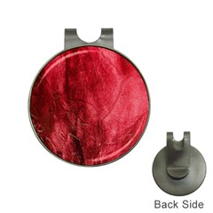 Red Background Texture Hat Clips with Golf Markers