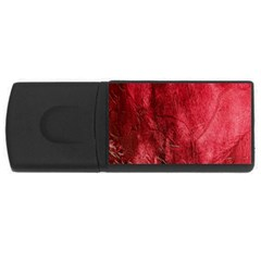 Red Background Texture USB Flash Drive Rectangular (4 GB)