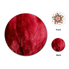 Red Background Texture Playing Cards (Round)