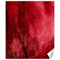 Red Background Texture Canvas 8  X 10