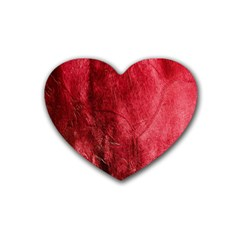Red Background Texture Heart Coaster (4 pack)