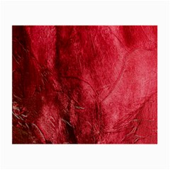 Red Background Texture Small Glasses Cloth (2 Side)