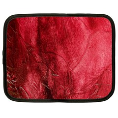 Red Background Texture Netbook Case (Large)