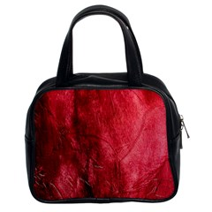Red Background Texture Classic Handbags (2 Sides)