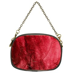 Red Background Texture Chain Purses (one Side)