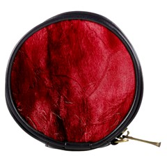 Red Background Texture Mini Makeup Bags
