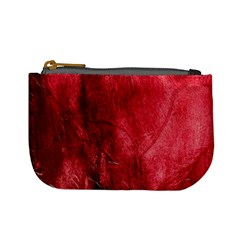 Red Background Texture Mini Coin Purses