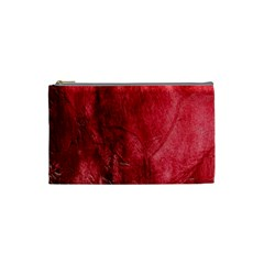 Red Background Texture Cosmetic Bag (Small)