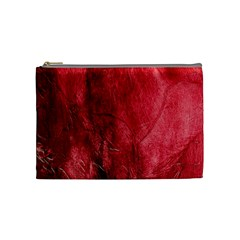 Red Background Texture Cosmetic Bag (Medium)