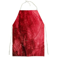 Red Background Texture Full Print Aprons