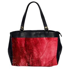 Red Background Texture Office Handbags (2 Sides)