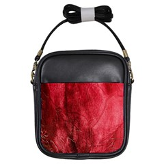 Red Background Texture Girls Sling Bags