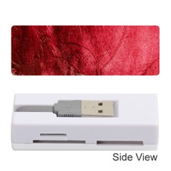 Red Background Texture Memory Card Reader (stick)