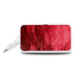 Red Background Texture Portable Speaker (White)