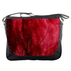 Red Background Texture Messenger Bags