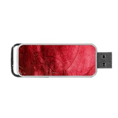 Red Background Texture Portable USB Flash (One Side)