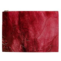 Red Background Texture Cosmetic Bag (xxl)