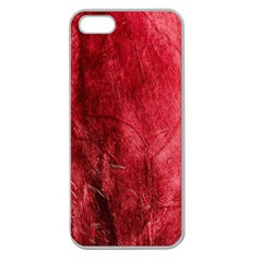 Red Background Texture Apple Seamless iPhone 5 Case (Clear)