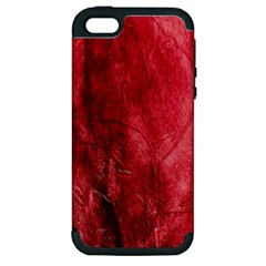 Red Background Texture Apple iPhone 5 Hardshell Case (PC+Silicone)