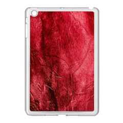Red Background Texture Apple iPad Mini Case (White)