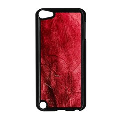 Red Background Texture Apple iPod Touch 5 Case (Black)
