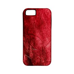 Red Background Texture Apple Iphone 5 Classic Hardshell Case (pc+silicone)
