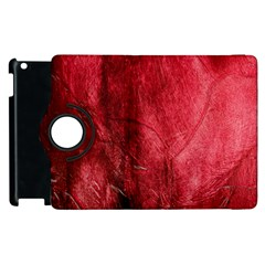 Red Background Texture Apple iPad 2 Flip 360 Case